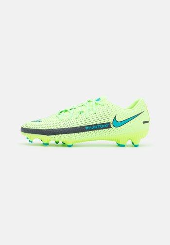 PHANTOM GT ACADEMY FG/MG - Moulded stud football boots - lime glow/aquamarine