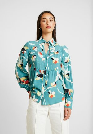 TAIKA - Button-down blouse - teal