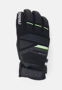 Reusch - STORM R-TEX - Handschoenen - black/black melange/neon green - 1