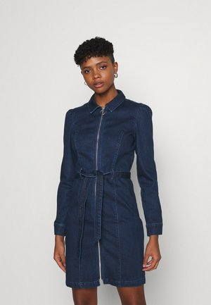 ONLFLEUR LIFE PUFF DRESS - Sukienka jeansowa - dark blue denim