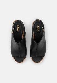 Clarks - FLEX STITCH - Platform sandals - black - 5