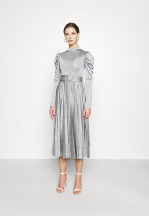 PREMIUM MARL PLEATED - Cocktailjurk - grey