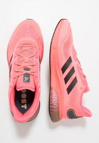 adidas Performance - SUPERNOVA - Neutral running shoes - signal pink/core black/copper metallic - 1