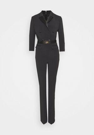 WITH BELT - Tuta jumpsuit - black