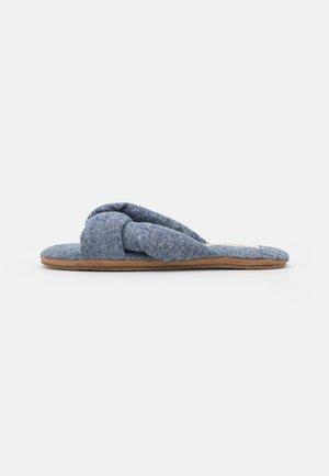 SYLVIE TWISTED - Pantoffels - indigo/multicolor