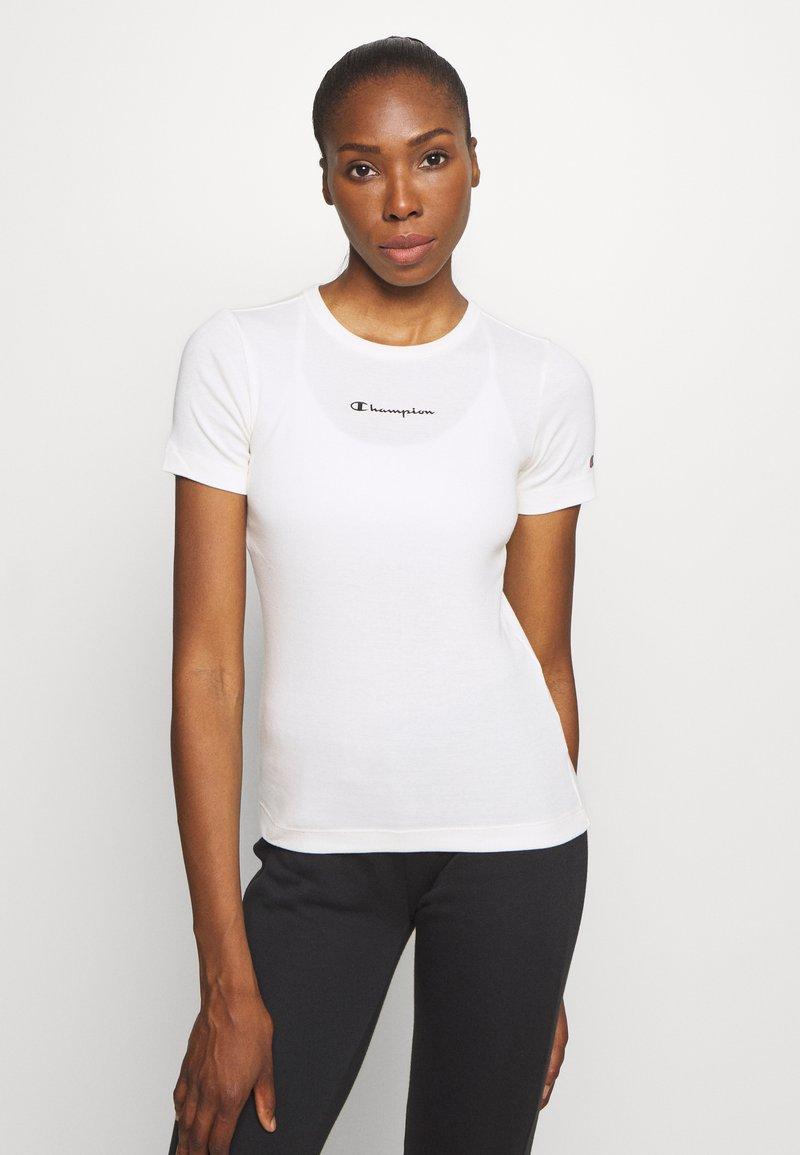 Champion - CREWNECK LEGACY - Print T-shirt - off-white