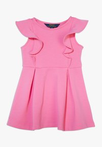 Polo Ralph Lauren - PONTE RUFFLE DRESSES - Denní šaty - baja pink - 0