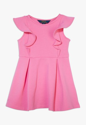 PONTE RUFFLE DRESSES - Day dress - baja pink