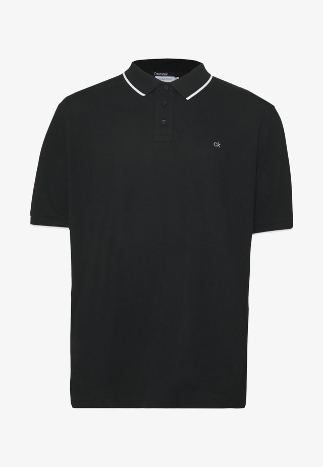 STRETCH TIPPING - Polo - black