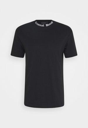 GOTH COLLAR TEE - Print T-shirt - black