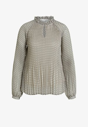 MIT PLISSEE - Blouse - light grey