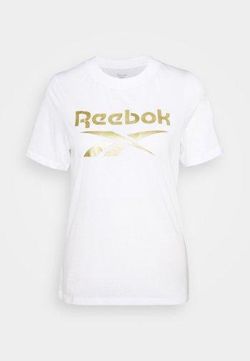 REEBOK IDENTITY LOGO T-SHIRT - T-shirt z nadrukiem - white