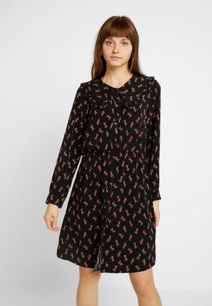 VIVIANNE DRESS - Denní šaty - black/brown