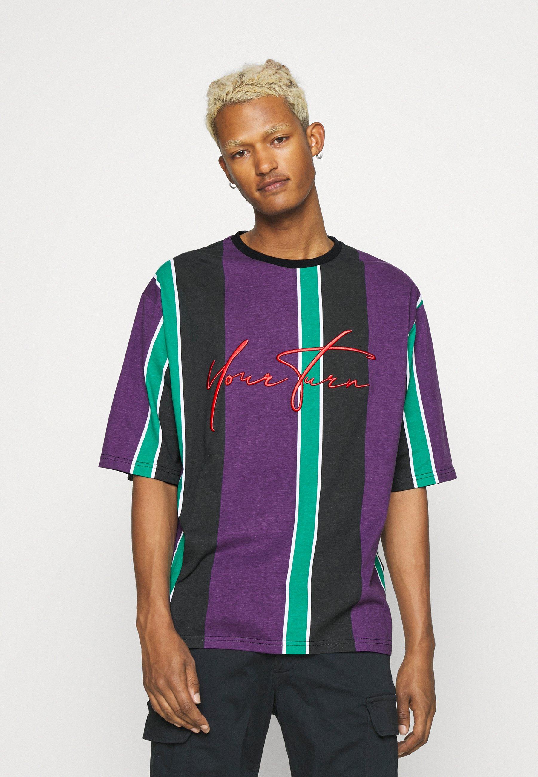 Women UNISEX - Print T-shirt - purple /green /black