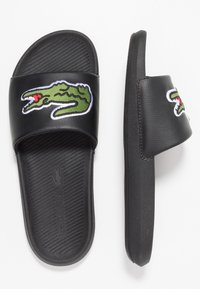 Lacoste - CROCO SLIDE - Mules - black/green - 1