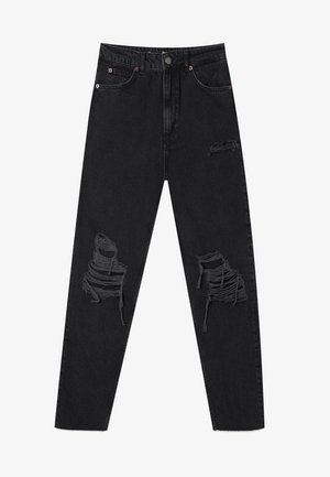 MIT SCHLITZEN  - Slim fit jeans - black
