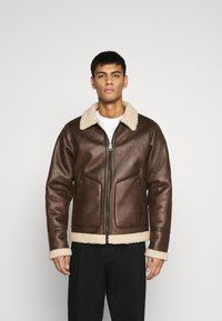 Only & Sons - ONSBEN AVIATOR - Faux leather jacket - chicory coffee - 0
