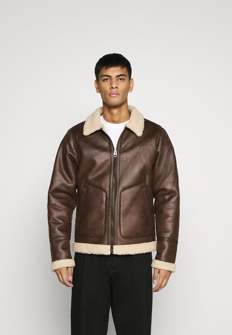 Only & Sons - ONSBEN AVIATOR - Faux leather jacket - chicory coffee