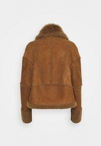 VSP - Leather jacket - tobacco - 1
