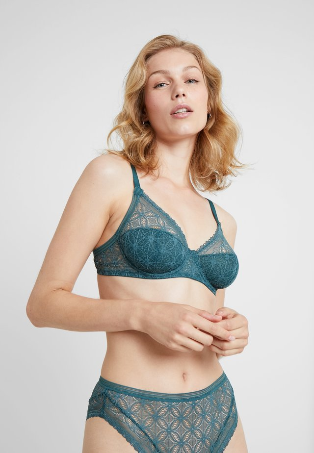 UNDERWIRE FULL CUP BRA - Underwired bra - dark jade