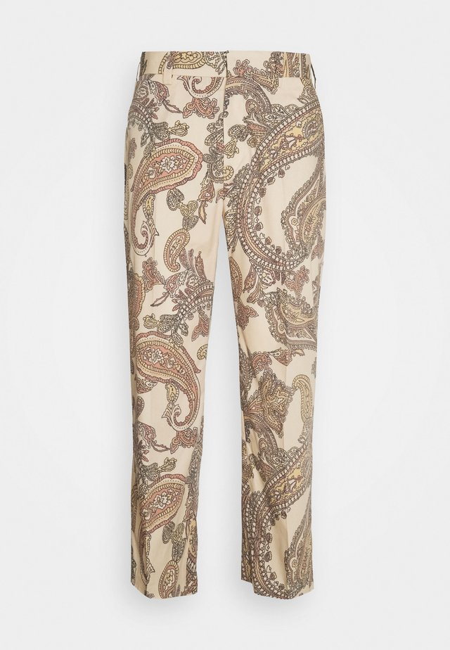 CROPPED PAILSEY TROUSERS - Trousers - beige