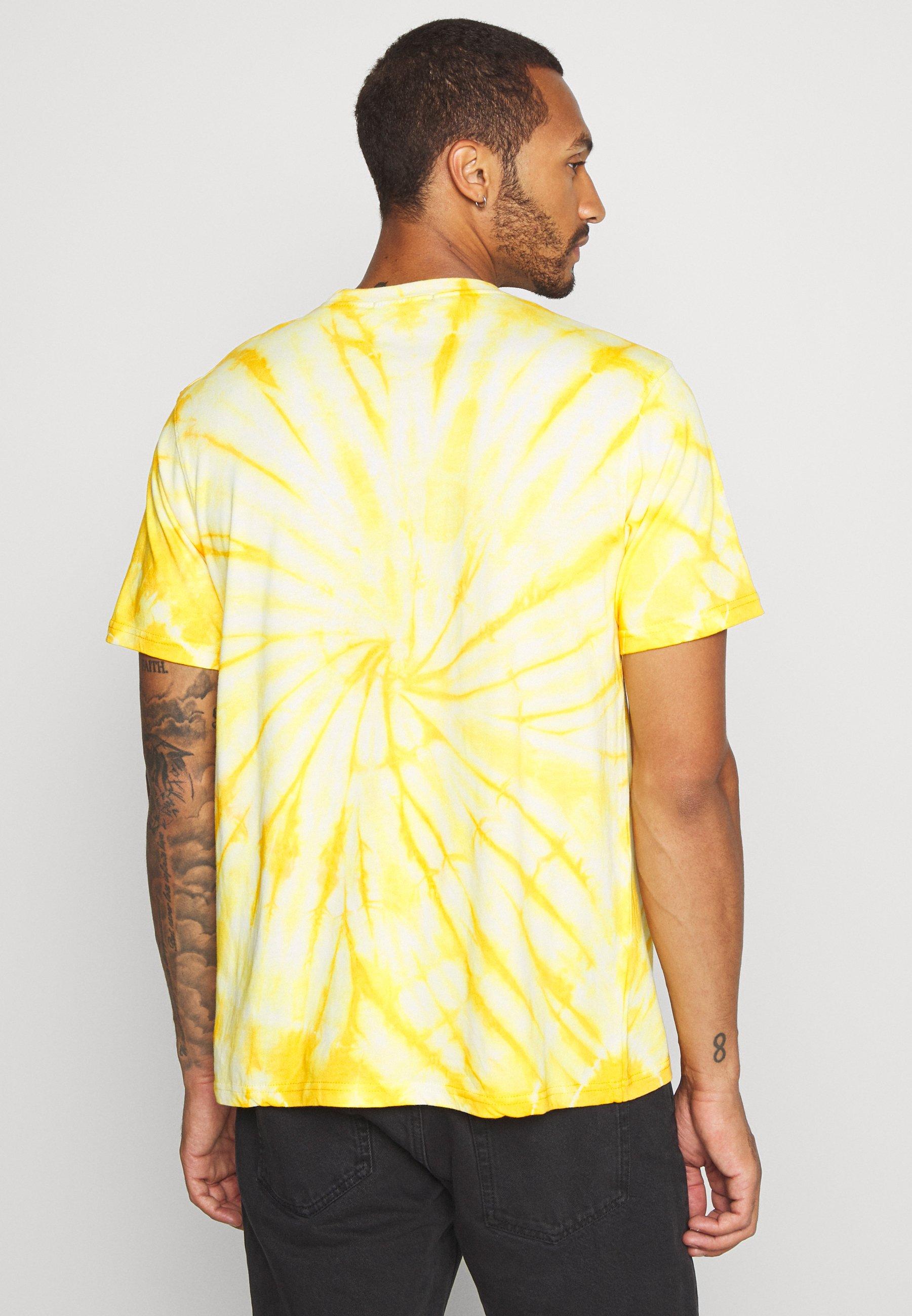 Mennace ENDLESS SUMMER SWIRL TIE DYE TEE - Print T-shirt - yellow 8Nqdo