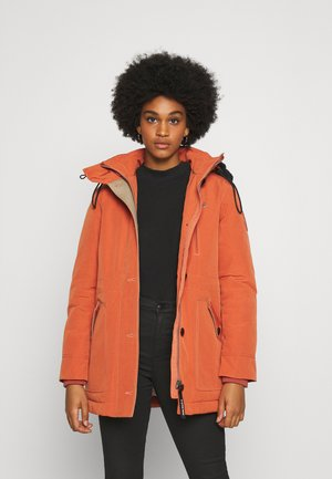NEW DUTY SHORT - Parka - dusty royal orange