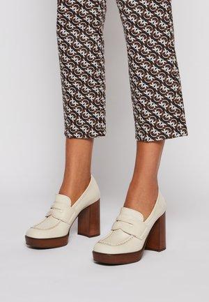 Platform heels - avorio
