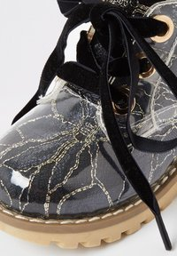River Island - MINI GIRLS BLACK LACE HIKER BOOT - Lace-up ankle boots - black - 3