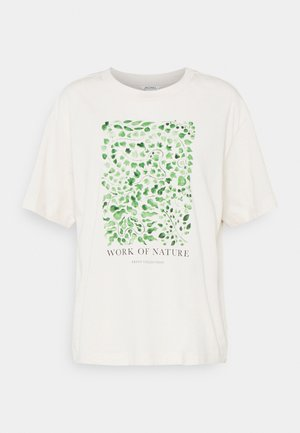 TOVI TEE - T-shirts print - white dusty light