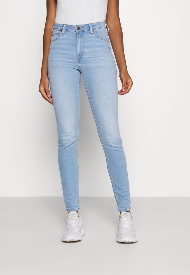 SCARLETT HIGH - Jeans Skinny Fit - bleached azur