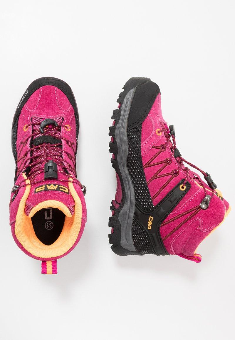 CMP - KIDS RIGEL MID SHOE WP UNISEX - Hiking shoes - bouganville/goji