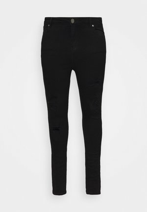 HIGH WAIST - Skinny džíny - black