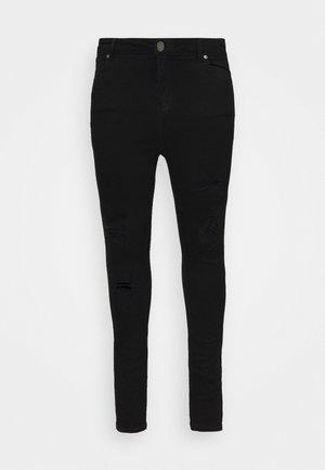 HIGH WAIST - Jeansy Skinny Fit - black