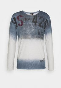 CHALLENGER ROUND - Long sleeved top - derby blue