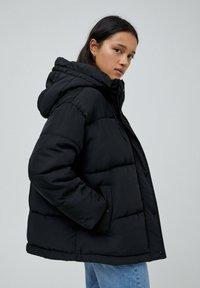 PULL&BEAR - Down jacket - black - 4