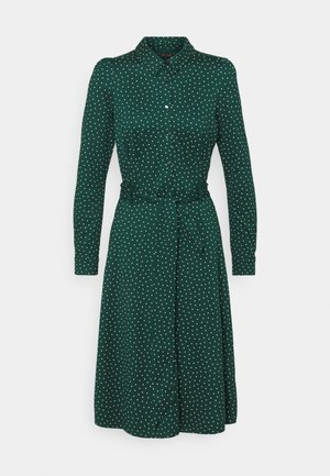 SHEEVA DRESS LITTLE DOTS - Košilové šaty - pine green