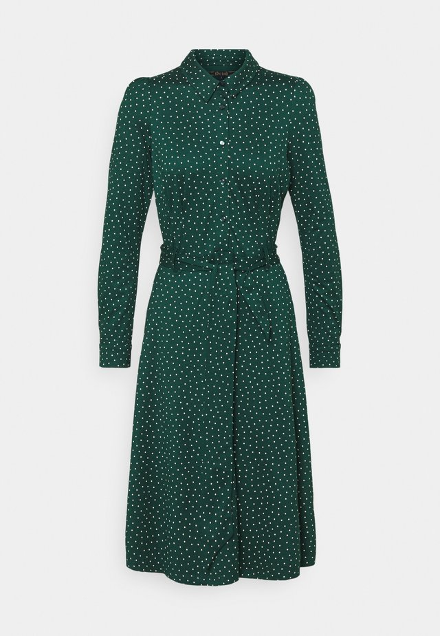 SHEEVA DRESS LITTLE DOTS - Skjortekjole - pine green