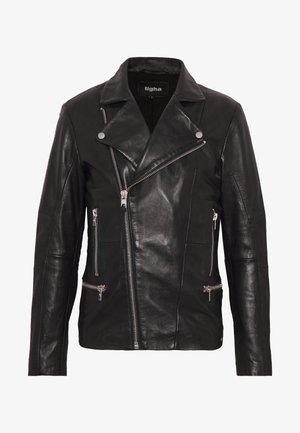 YOUNES - Veste en cuir - black