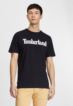 KENNEBEC RIVER LINEAR TEE - Print T-shirt - black