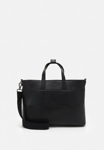 LEATHER UNISEX - Briefcase - black