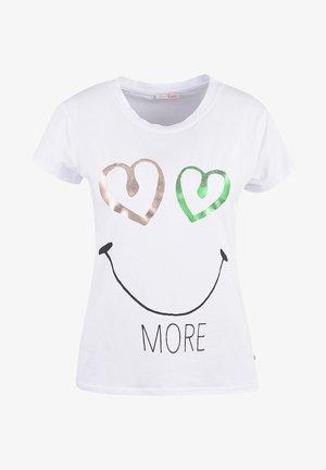 Print T-shirt - white print