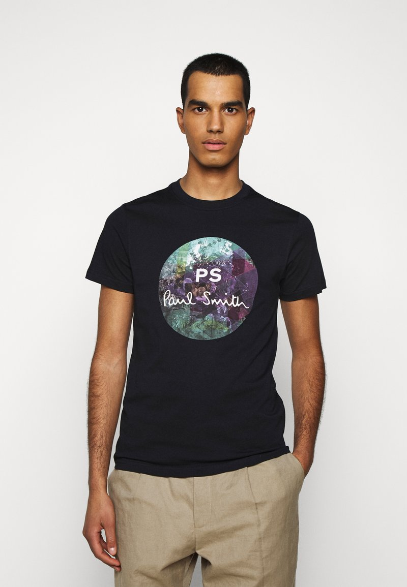 PS Paul Smith - MENS SLIM FIT CIRCLE - Print T-shirt - dark blue