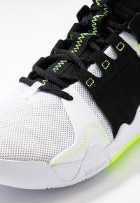 Jordan - Basketball shoes - white/volt/black - 5