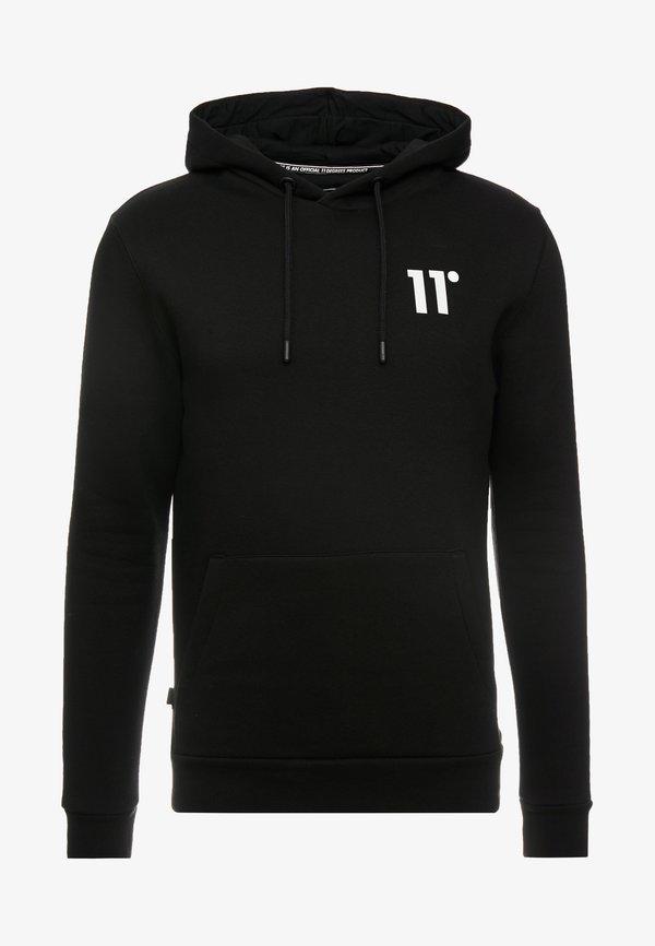 11 DEGREES CORE HOODIE - Bluza z kapturem - black/czarny Odzież Męska RNRV