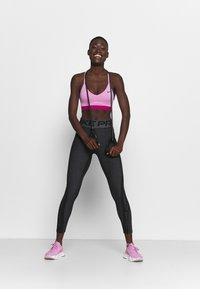 Nike Performance - Leggings - black/white/metallic silver - 1