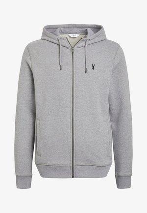 Hoodie met rits - dark grey