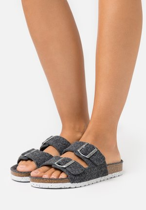 VMCOZY  - Slippers - dark grey melange
