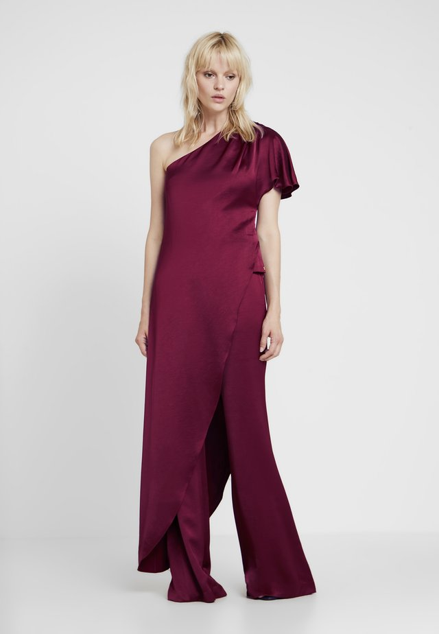 ASYMMETRIC LONG BLOUSE - Bluzka - reds