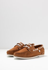 Barbour - BOWLINE BOAT - Boat shoes - tan - 4